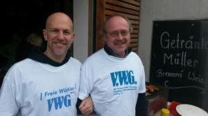 Die Gemeinderäte Patrick Kammerer und Günter Pfersich in Aktion